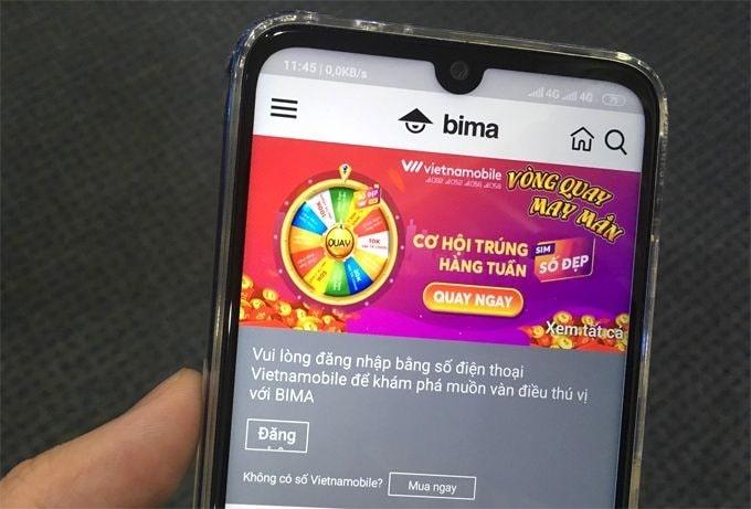 Bima là một ứng dụng đặc biệt của Vietnamobile