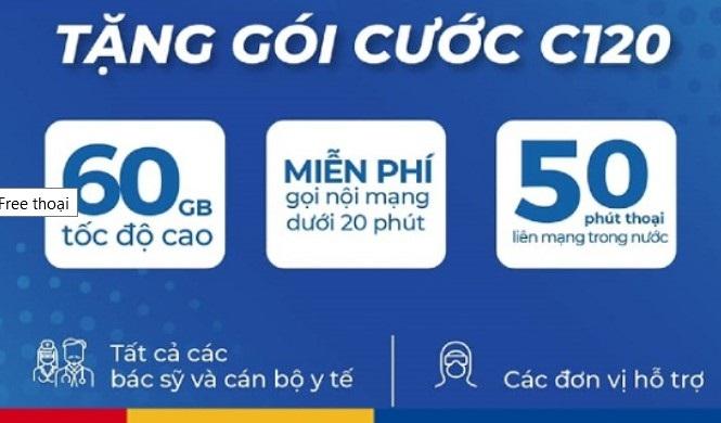 C120 là gói cước ưu đãi cước gọi và data cho khách hàng