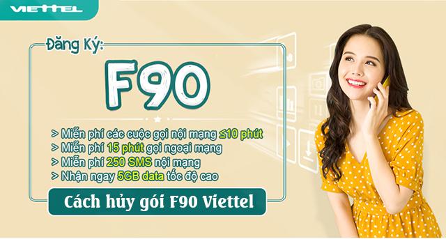 Hủy gói F90 chỉ với một tin nhắn