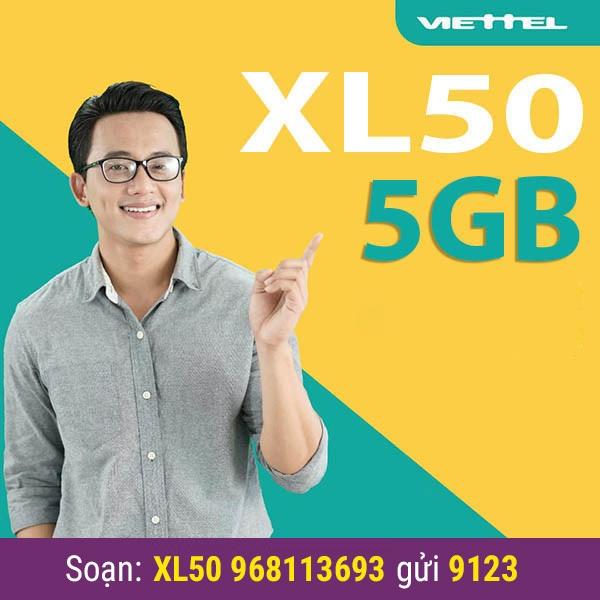 Chỉ cần soạn XL50 0968024024 gửi 9123 là có thể đăng ký gói XL50